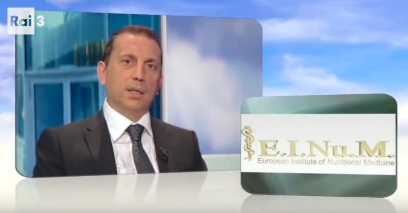 Συνέντευξη στην Ιταλική τηλεόραση RAI - Πρόληψη χρόνιων και αυτοάνοσων νοσημάτων μέσω της διατροφής